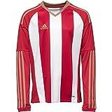 adidas Climcool - Camiseta de fútbol de manga larga para hombre, Hombre, color Rojo/Blanco, tamaño S