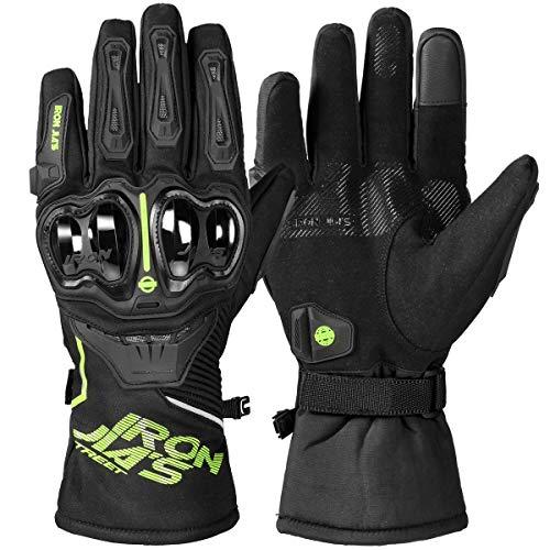 BORLENI Waterproof Motorcycle Riding Gloves Touchscreen Winter Armored Glove for Men