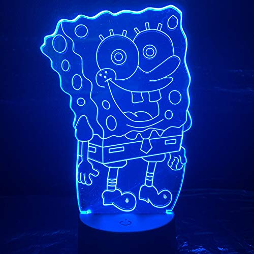 Sanzangtang Led-nachtlampje, 3D-visionzeven, kleuren-afstandsbediening, baby's, nachtlampje, illusie, kamerdecoratie, licht, kinderkamer, baby, nachtlampje, cartoon