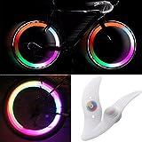 TRIXES 2 X Luz de Rueda de Bici LED Cambian de Color 3 Modo Ciclismo Bicleta