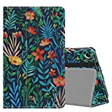 MoKo Funda Compatible con Amazon Kindle Fire 7 Tablet (9th Generation - 2019 Release), Ultra Slim Función de Soporte Plegable Smart Cover Stand Case - Noche de la Jungla