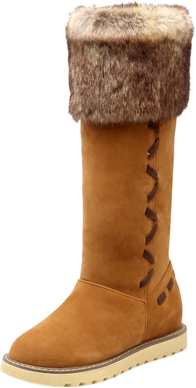 JOJONUNU Women Pull On Snow Boots