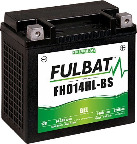 Fulbat - Batería moto Gel FHD14HL-BS/ETX14L 12V 14Ah