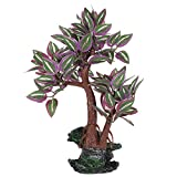 Pssopp Acuario árbol Artificial Planta de plástico decoración pecera árbol Hojas Plantas para Acuario pecera bonsái Ornamento