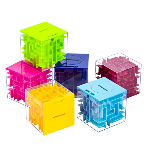 6 Pack Money Maze Puzzle Gift Boxes, A Fun Unique Way to Give Gifts for People You Love, Great for Kids and Adults