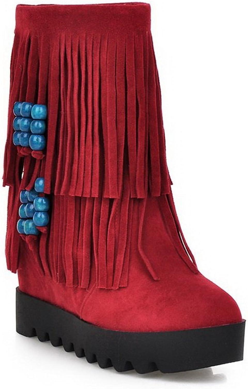 AdeeSu Girls Heighten Inside Tassels Outdoor Xi Shi Velvet Boots
