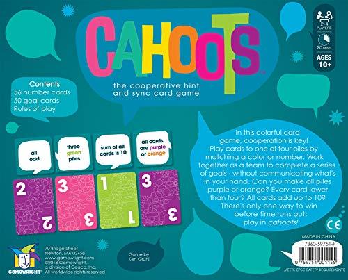 Gamewright Cahoots Spiel, Mehrfarbig