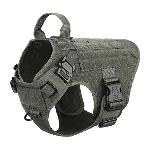 ICEFANG Military Dog Harness Medium Breed,Tactical K9 Working Dog Vest,Molle...