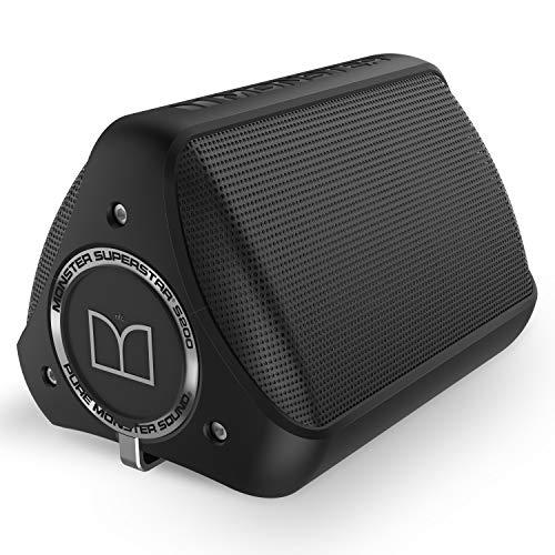 Monster S200 - Altavoz portátil con Bluetooth, Color Negro