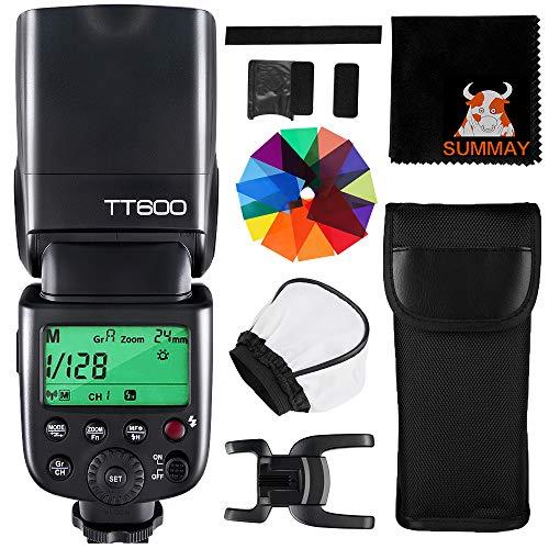Godox TT600 Flash Speedlite Flash TTL GN60 2.4G Inalámbrico para Canon Nikon Panasonic Olympus Pentax Fijifilm DSLR Cámara
