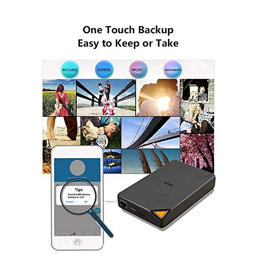 SSK 1TB Pe   rsonal Cloud External Wireless Hard Drive Portable NAS Storage with WiFi Hotspot for Travel, Support Auto-Backup Connect SD Card Reader Share Data for iPhone iPad Tablet Smart Phone Laptop