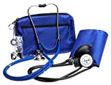 Prestige Sphygmomanometer and Stethoscope Kit with Matching Royal Blue Carrying Case