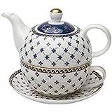 Grace Teaware Porcelain 4-Piece Tea For One (Trellis...