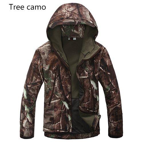 BABUBALA Stylish Brand Jacket Men Jacket Lurker Shark Skin Soft Shell Waterproof Windproof Men windbreaker Jacket Coat Tree Camo XXXL