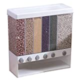 Wall Mounted Dry Food Dispenser, 6 Grid Large Capacity For Food Storage