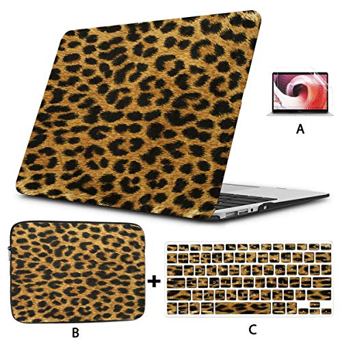 Mac Book Case Close Up Leopard Spot Texture Laptop Case Hard Shell Mac Air 11'/13' Pro 13'/15'/16' With Notebook Sleeve Bag For Macbook 2008-2020 Version