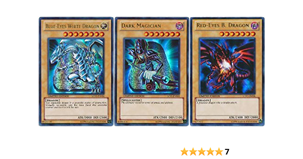 YuGiOh Blue-Eyes Red-Eyes Dark Magician Set LC01 Ultra Rare Limited Edition NM