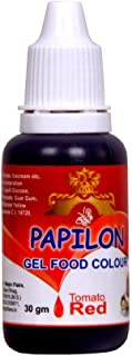 Papilon Food Flavours & Colours Concentrated Gel Food Color, Tomato Red, 30 g