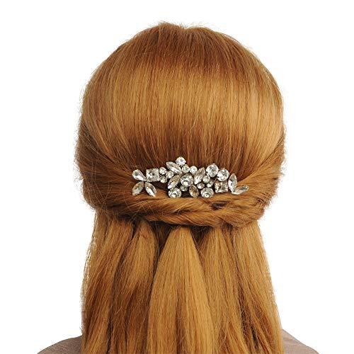 TOPQUEEN Gold Perle Strass Braut Haarkamm Hochzeit Haarschmuck Tiara Diadem, Schmetterlinge (HP88)