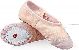 DoGeek Gute Qualität Ballettschuhe weich Spitzenschuhe Ballet Trainings Schläppchen Schuhe für Mädchen/Damen in den Größen 22-44 Bitte bestellen Sie eine Nummer grösser