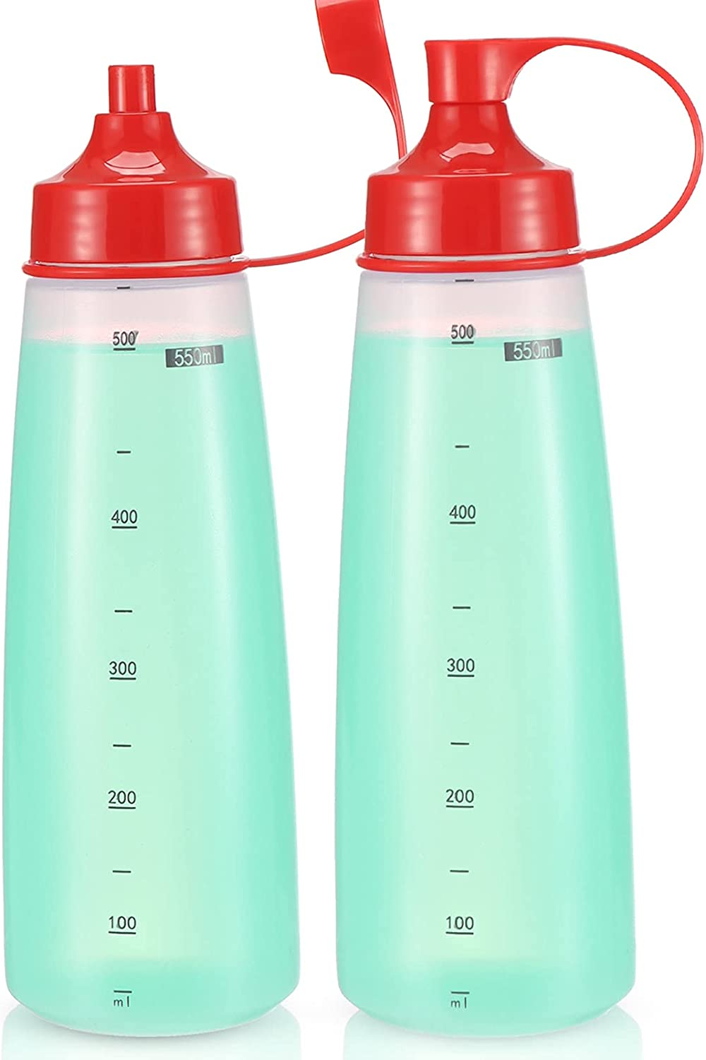 oiununo Squeeze Bottles Wide Mouth - of 2 Bottle Max 86% OFF Condiment Pack San Francisco Mall