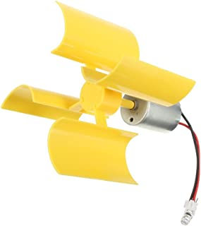 DC 0.1V-5.5V 100-6000RPM Micro Vertical Wind Turbines, Small Motor Blades Generator for DIY (1pc)