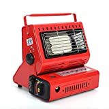 PDD Indoor-Safe Outdoor Butane Heater, Space Heater for Camping Tents, Portable Camping Stove (red)