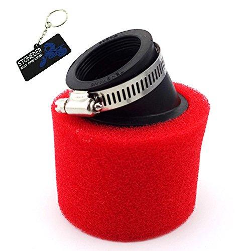 STONEDER Filtro de aire rojo de 45 mm para Pit Dirt Trail de China, motocicleta, ATV, quad, motocross, Buggy Go Kart 125 cc, 140 cc, 150 cc
