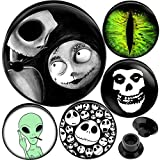 00 Plugs Ears gauges 00g Plugs Tunnels Double Flared Nightmare Before Christmas 00 Gauge 00g 10mm