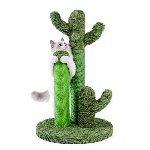 PAWZ Road Katzenkratzbaum Kratzpfosten Kratzstamm Kaktus-Kratzbaum Sisal-Seil Kletterbaum Spielzeug für Katzen