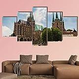 WKXZZS Bilder, Poster, Kunstdrucke Erfurt Kathedrale an