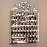 Wall Shelf Support Mural de Vernis à Ongles en métal, présentoir de boîte de Rangement de Vernis à Ongles à Six Couches, étagère Murale de Stockage de cosmétiques/huiles essentielles, Organisateur