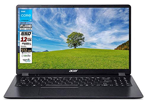 "Notebook SSD Acer Intel N4120, 4 core, RAM 8GB, SSD 256GB M2 pci, display 15.6"" Full hd led, Svga Intel UHD 600, 3 USB, Wi-Fi, hdmi, BT, lan, Win 10 PRO, Libre Office, Pronto all'Uso, Gar. Italia"