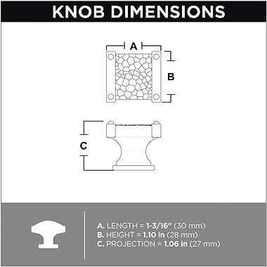 "LIBERTY P41702K-FB-C Hammered Knob, 1-3/16"" (30mm), Flat Black"