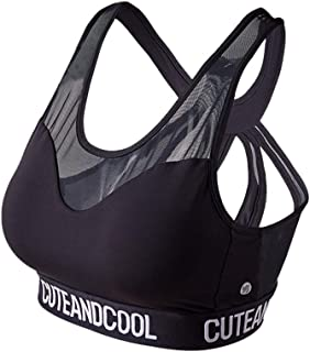 Yoga Bra Mesh Stitching Hollow Back Shockproof Vest Quick-drying Women's Sports Bras