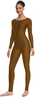 OVIGILY Women's Long Sleeve Unitard Dance Costume Spandex Full Body Suits
