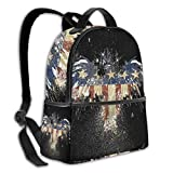 Teery-YY Mochila de ocio con bandera americana, estilo patriótico, de estilo águila calva, casual, duradera, para viajes, escuela, escuela, niñas, adolescentes