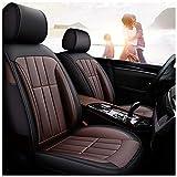 GSHWJS Funda de asiento de automóvil cuatro estaciones almohadilla Airbag compatible cubierta de asiento impermeable delantera y trasera Juego completo de 5 asientos de cuero universal cubierta de asi