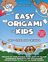 Easy Origami for Kids: Ori + Gami and Friends. Origami Kit with Magical Book, Easy-to-Do Fun Papercraft Projects and Step-by-Step Instructions to the ... of Origami Paper (Dover Origami Papercraft)