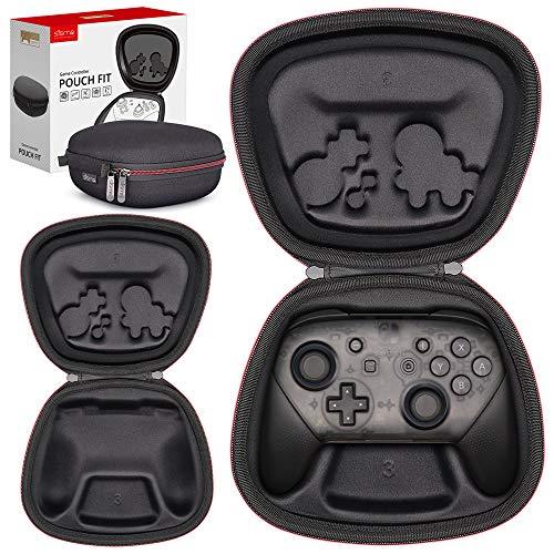Sisma コントローラケース for Nintendo Switch Proコントローラ セミハード ケース 収納 ポーチ ワイヤレスコントローラー全体を守ります 『黒色』