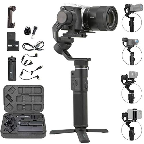 FeiyuTech G6 Max 3-Axis Handheld Gimbal Stabilizer (G6 Plus Upgrade Ver) for Mirrorless Camera Like Sony a7 w/Short Lens,Action Camera Gopro,Smart Phone iPhone 11 Pro Max 8,1.2Kg Payload,Splash Proof