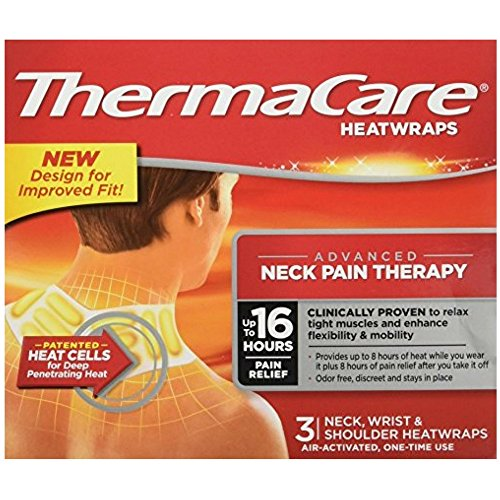 ThermaCare Heatwraps Neck, Shoulder & Wrist 3 Each (Pack of 5)