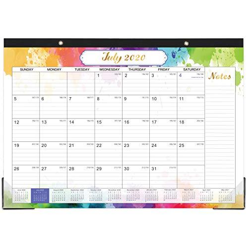 Desk Calendar 2020-2021 - 18 Months Desk Calendar, 17' x 12', Monthly...