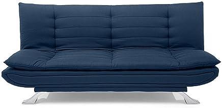 Furny Brio FHD313 Three Seater Sofa Cum Bed (DarkBlue)