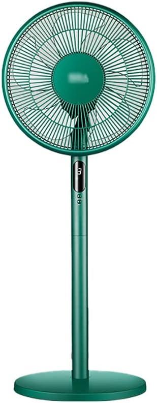 SFF Fan Ventilador de Pedestal silencioso DC Motor Soporte de pie Ventilador 3 Velocidad de Control Remoto de Pedestal Ajustable para la Oficina de la Sala de Estar Silencioso (Color : Green)