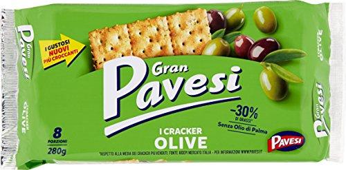 Gran Pavesi Cracker Olive ed Erbette / Oliven und Kräuter 250 gr.