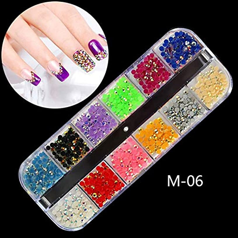 Nail Art Accessories - 1 Box AB Rhinestones 3d Colorful Nail Sequins Crushed Stones Fur Ball For DIY Accessories Glitter Nail Decorations - 3D Nail Art Rhinestones For Crafts - M06