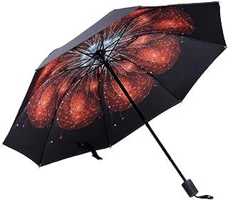 Umbrella Windproof Umbrella Folding Sunshade Dual Purpose Sun Protection Sun Creative (Size : A)