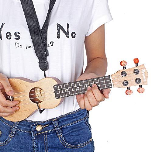 N/A Elektronisches Spielzeug für 43,2 cm Redwood Mini Pocket Gitarre Ukulele Musikinstrument Spielzeug mit Tasche