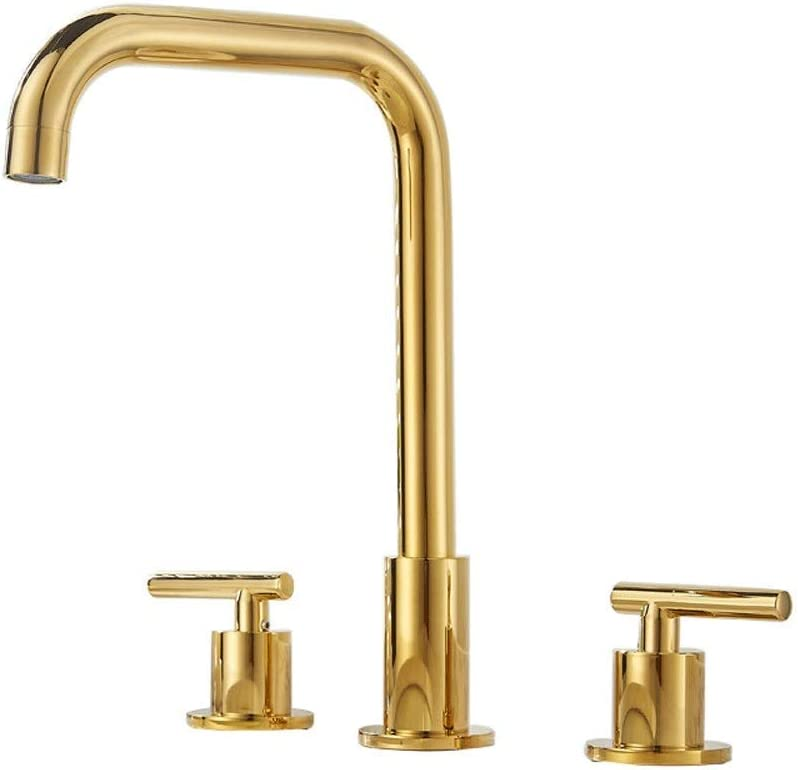 LSNLNN Faucets European Style Gold Faucet Hot Max 55% OFF Holes Max 58% OFF Basin Three